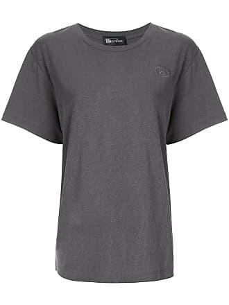 We11done Camiseta com logo bordado - Cinza