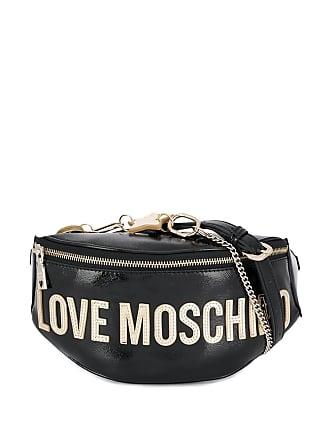 Love Moschino appliqué belt bag - Preto