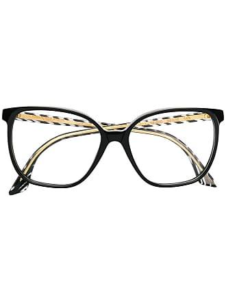 Emmanuelle Khanh square oversized frame glasses - Preto