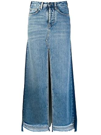 Marcelo Burlon Saia jeans bicolor - Azul