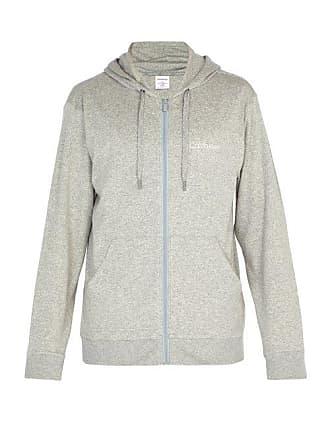 36c355eec9c Calvin Klein Underwear Sweat-shirt en coton mélangé zippé à capuche