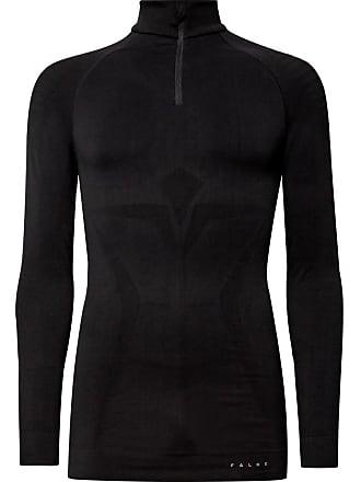 Falke Ergonomic Sport System Maximum Stretch-knit Half-zip Base Layer - Black