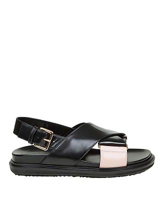 77c2e62a0c5 Marni Black and pink Fussbett Marni sandals