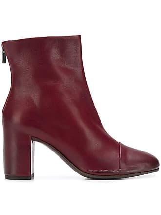 Del Carlo Ankle boot de couro - Vermelho