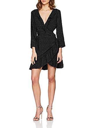 932b178a3008 Only Nos Onllaura 7/8 AOP Wrap Dress Wvn Vestito, Multicolore (Black AOP