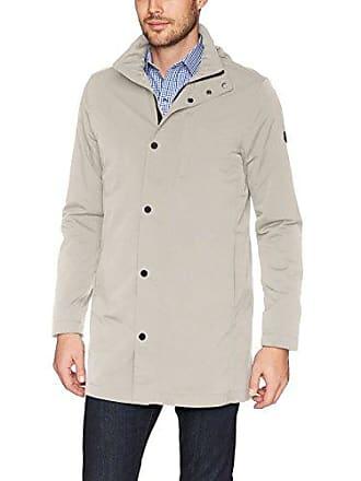 J.Lindeberg Mens Tech Nylon Coat, Light Beige/Grey, XX-Large