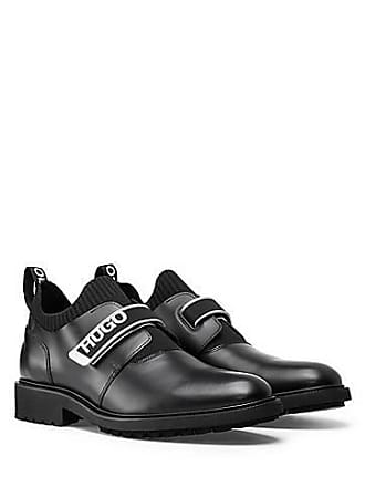 95d09d28cb6 HUGO BOSS Chaussures à enfiler en cuir avec bande auto-adhésive  logotée250.00