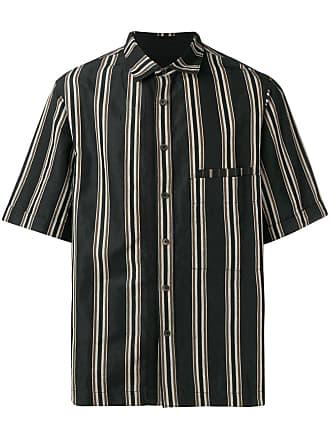 Ziggy Chen striped shirt - Black