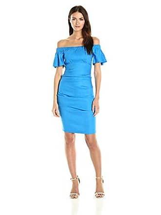 4729102e5d9 Nicole Miller Womens Stretch Linen Off Shoulder Tuck Dress