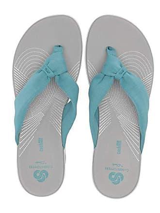 Clarks Arla Glison (Aqua Solid Textile) Womens Sandals