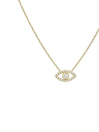 Shashi Evil Eye Pave Necklace