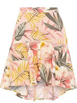 6ee5f7009b8a Joie Joie Woman Radhiya Floral-print Linen Mini Skirt Peach Size 10