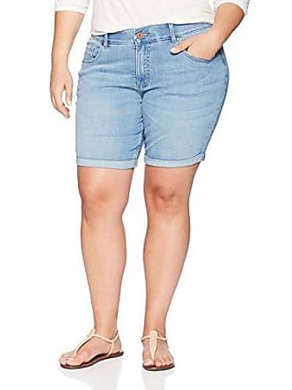 9de18264 Riders by Lee Indigo Womens Plus Size Modern Collection 8 Double Rolled  Cuff Denim Short,