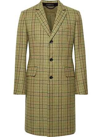 Rag & Bone Yorke Plaid Wool Coat - Green