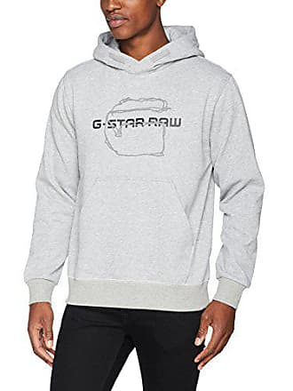 8931e3d317677 G-Star Tars Hooded SW L s, Sweat-Shirt Homme, Gris