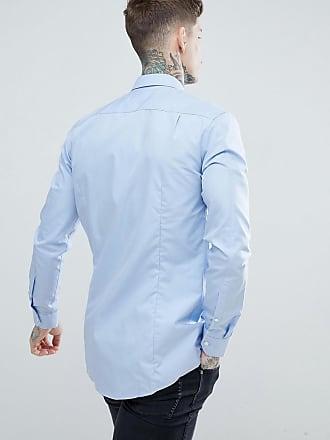 1053f338e HUGO BOSS Elisha poplin extra slim fit shirt in light blue - Blue