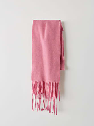 38a2950c06d Acne Studios Canada Skinny Mélange de rose chewing-gum Écharpe très étroite à  franges