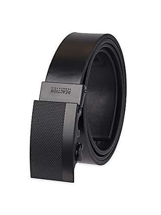 Kenneth Cole Reaction Mens Perfect Fit Adjustable Click Belt, black matte, Medium (34-36)