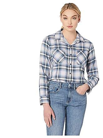 d2fd320daad Sanctuary Favorite Boyfriend Shirt (Indigo Love Plaid) Womens Long Sleeve  Button Up