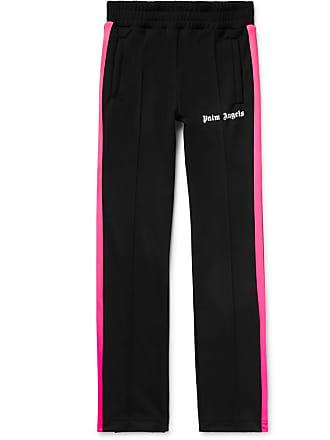 Palm Angels Slim-fit Logo-print Striped Tech-jersey Sweatpants - Black