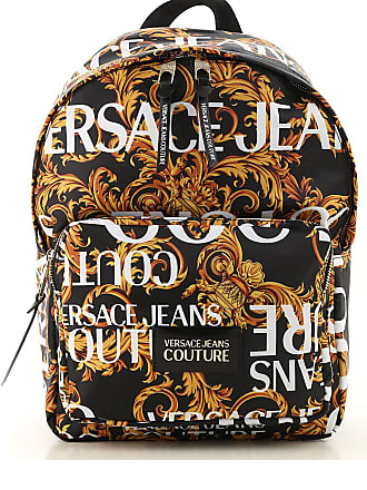 Versace Jeans Couture Backpack for Men, Black, Nylon, 2017, one size