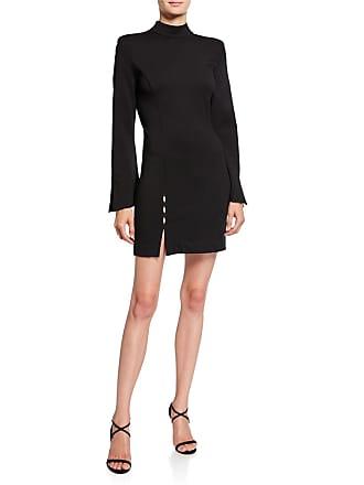 4fe9afde9fc Donna Mizani Samantha Mock-Neck Long-Sleeve Mini Dress