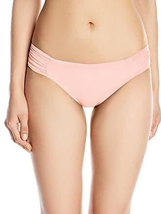 83858e0208b9 La Blanca Womens Island Goddess Side Shirred Hipster Bikini Swimsuit Bottom,  Light Coral, 14