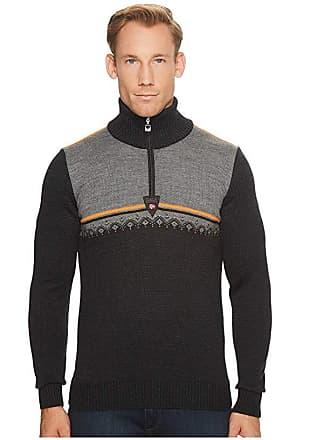 Dale of Norway Lahti Sweater (E-Dark Charcoal/Orange Peel/Smoke) Mens Sweater