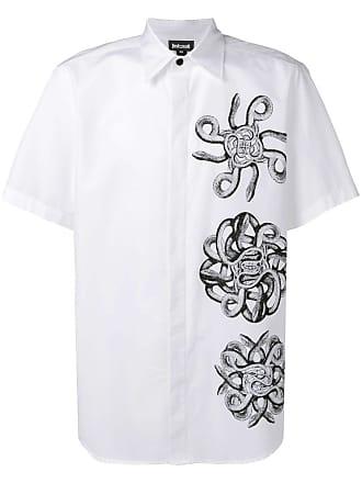 Just Cavalli snake print short-sleeve shirt - Branco