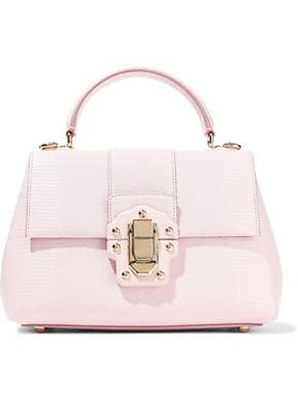 09774d71547bf Dolce & Gabbana Dolce & Gabbana Woman Lucia Lizard-effect Leather Shoulder Bag  Baby Pink