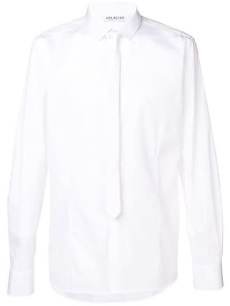 Neil Barrett Camisa com gravata - Branco