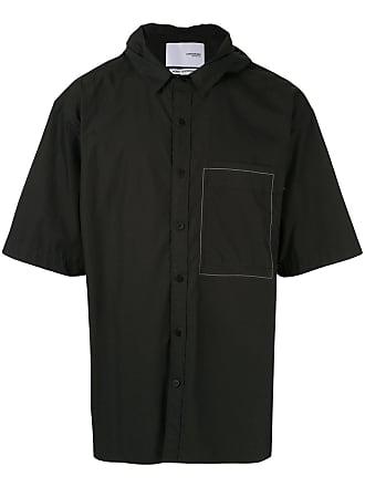 Yoshiokubo hooded shirt - Black