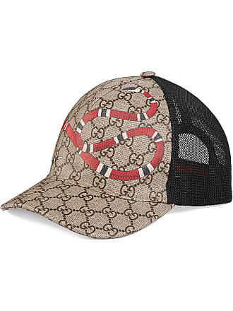 db8afc0bd7f Gucci Kingsnake print GG Supreme baseball hat - Neutrals