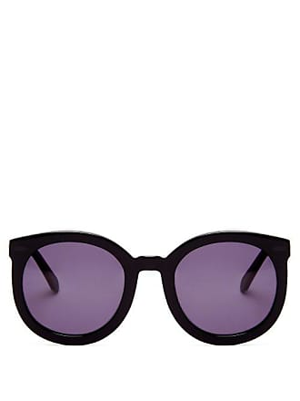 85e863894d3 Karen Walker Eyewear Super Duper Strength Acetate Sunglasses - Womens -  Black