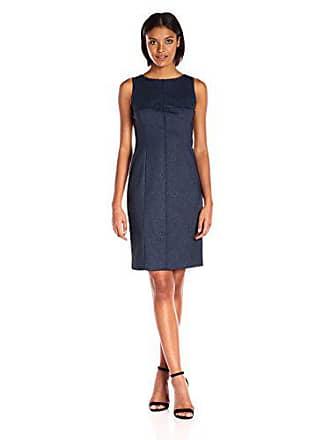 Jones New York Womens Fitted Indigo Midi Dress, Navy Combo, 8