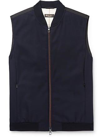 Loro Piana Panelled Virgin Wool-blend And Storm System Shell Gilet - Navy