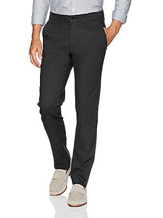 Haggar Mens Coastal Comfort Slim Fit Superflex Waist Flat Front Pant, Black, 38Wx30L