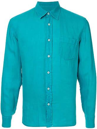 120% Lino long sleeve shirt - Blue
