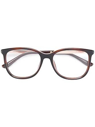 Jimmy Choo Eyewear Armação de óculos quadrada - Marrom