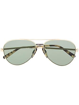 Brioni Óculos de sol aviador tartaruga - Dourado