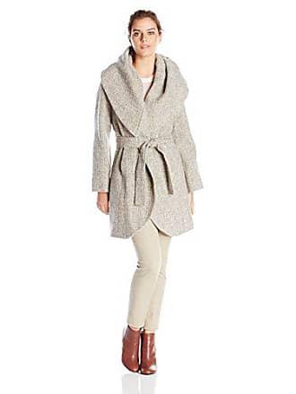 59120e8c9269 T Tahari Womens Marla Wool Tweed Wrap Coat, Mink/Macrame, X-Large