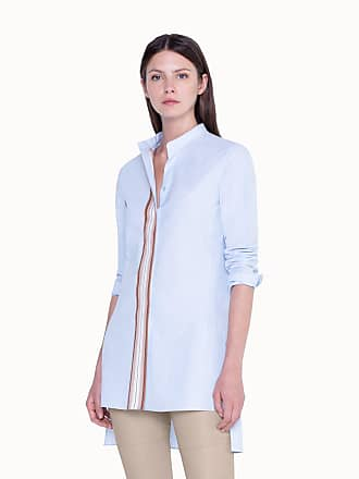 Akris Tunic Blouse in Cotton with Longer Back