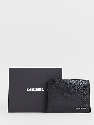Diesel Portafoglio nero a libro in pelle - Nero 537e922cd12b