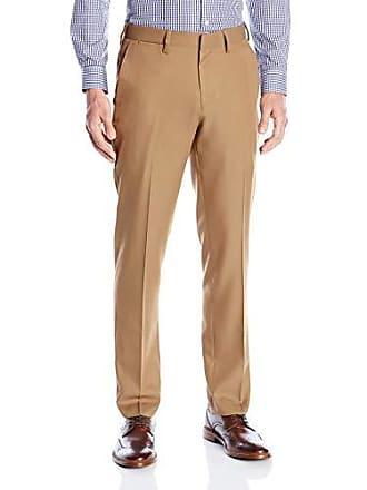 cc0677813d565b Louis Raphael Mens Slim Fit Flat Front Micro Touch Dress Pant, Khaki, 36x34