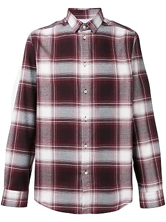 Natural Selection Camisa xadrez Slate - Vermelho