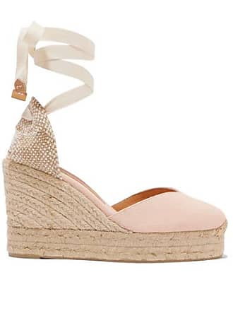 8c4e2e2bf13 Castaner Chiara 100 Canvas Wedge Espadrilles - Pastel pink
