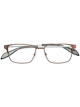 Alexander McQueen Eyewear rectangle frame glasses - Metallic