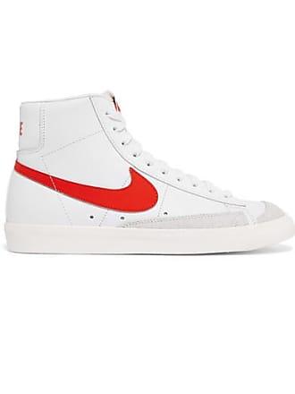 timeless design 9b8ae a13fc Nike Baskets Montantes En Cuir À Finitions En Daim Blazer Mid 77 Vintage -  Blanc