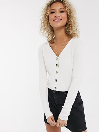 Urban Bliss Top in maglia con bottoni-Crema