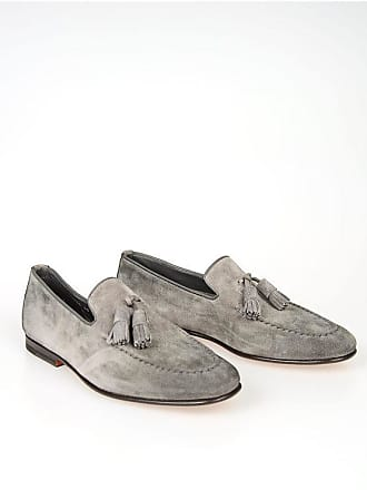 Santoni Suede Leather Loafers with Tassel size 5